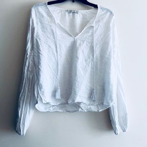 A&F flawless white blouse